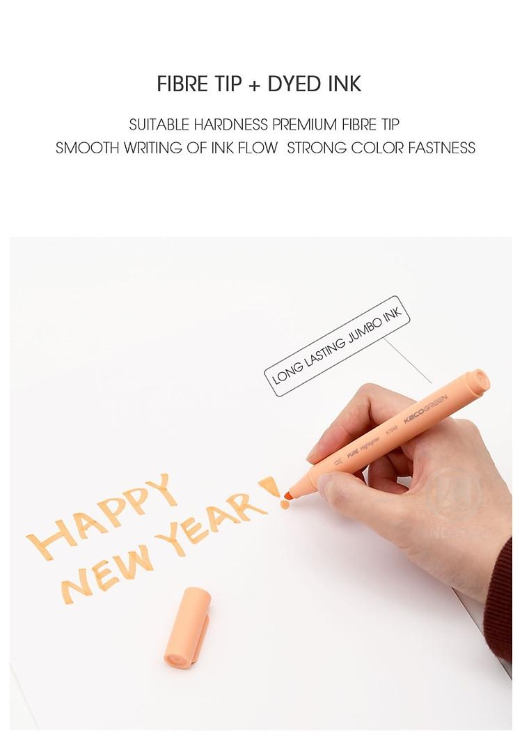 Xiaomi KACO 5 màu Bút dạ quang Bộ bút chì màu nổi bật cho trường học Bút đánh dấu VĂN PHÒNG 6