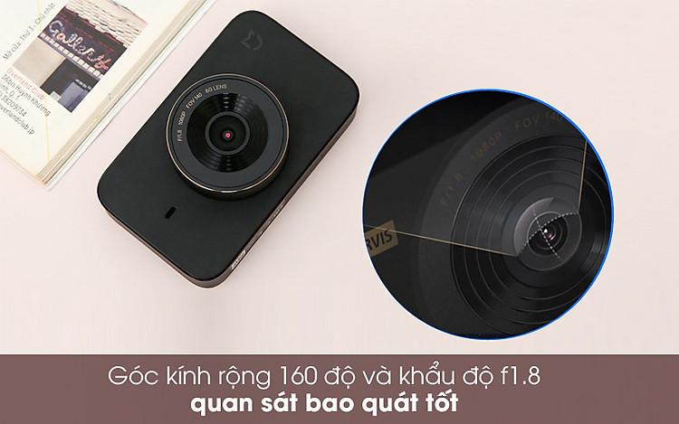 Góc kính rộng - Camera Hành Trình 1080P Xiaomi Mi Dash Cam 1S Đen