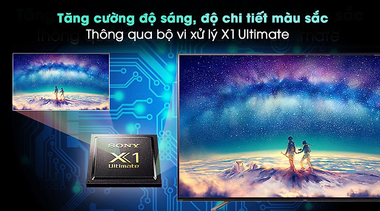 Android Tivi OLED Sony 4K 65 inch KD-65A8H - Bộ xử lý X1 Ultimate