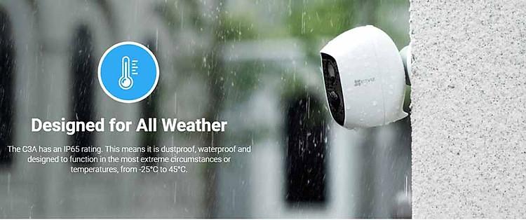 Camera IP Wifi ngoài trời EZVIZ C3A FHD 1080P - Dùng Pin Sạc - đàm thoại 2 chiều - hàng chính hãng 6