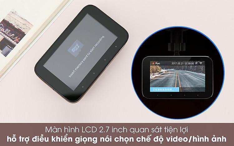 Màn hình dễ theo dõi - Camera Hành Trình 1080P Xiaomi Mi Dash Cam 1S Đen