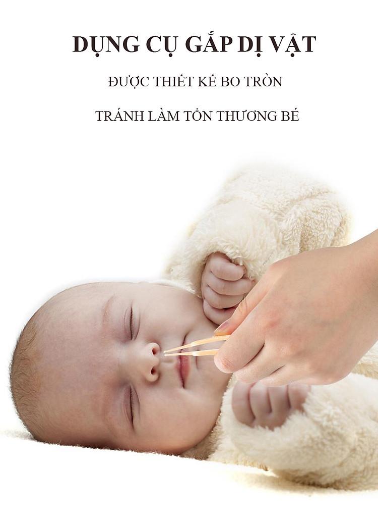 Bộ Dụng Cụ Chăm Sóc Móng Tay Chân Mũi Tai Cho Trẻ Sơ Sinh 4 Món ( Hộp Đựng Hình bầu dục) 5