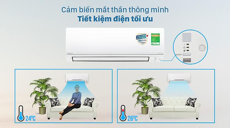 Máy lạnh 2 chiều Daikin Inverter 1 HP FTHF25VAVMV - Mắt thần thông minh tiết kiệm điện