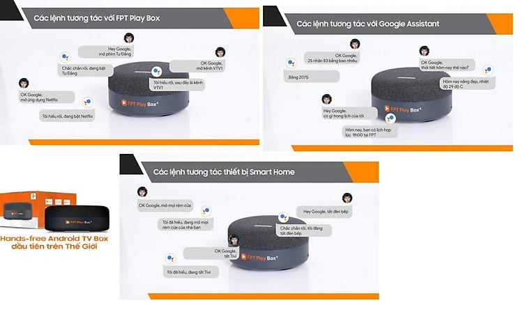 FPT Play Box S 2021 Chính hãng FPT Telecom (Mã T590) Kết hợp Tivi Box và Loa thông minh 13