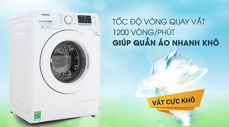 Vắt cực khô - Máy giặt Samsung Inverter 8 kg WW80J52G0KW/SV