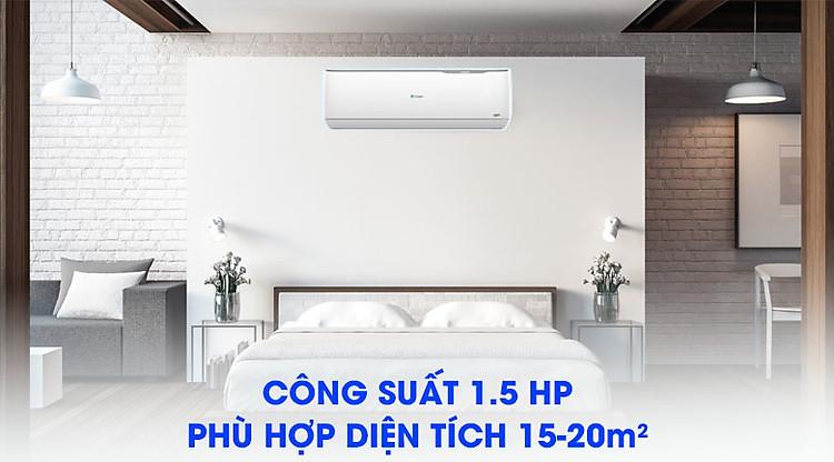 Công suất 1.5HP Máy lạnh Casper Inverter 1.5 HP GC-12TL32