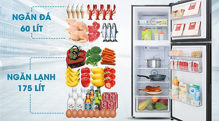 Dung tích 235 lít - Tủ lạnh Aqua Inverter 235 lít AQR-T249MA PB