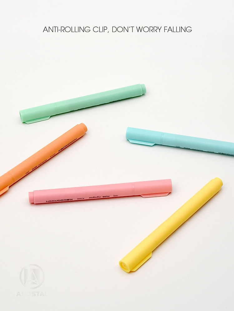 Xiaomi KACO 5 màu Bút dạ quang Bộ bút chì màu nổi bật cho trường học Bút đánh dấu VĂN PHÒNG 9