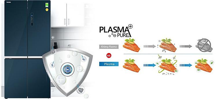 Công nghệ PLASMA+ PURE - Tủ lạnh Toshiba Inverter 622 lít GR-RF646WE-PGV(24)