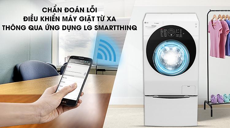 Sử dụng Smartphone để điều khiển từ xa, chẩn đoán lỗi - Máy giặt sấy LG TWINWash Inverter 10.5 kg FG1405H3W1 & TG2402NTWW