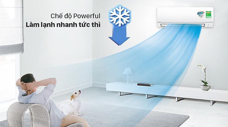 Máy lạnh 2 chiều Daikin Inverter 1 HP FTHF25VAVMV - Chế độ Powerful