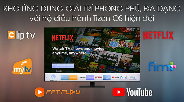Tizen OS - Smart Tivi QLED Samsung 4K 55 inch QA55Q80TA