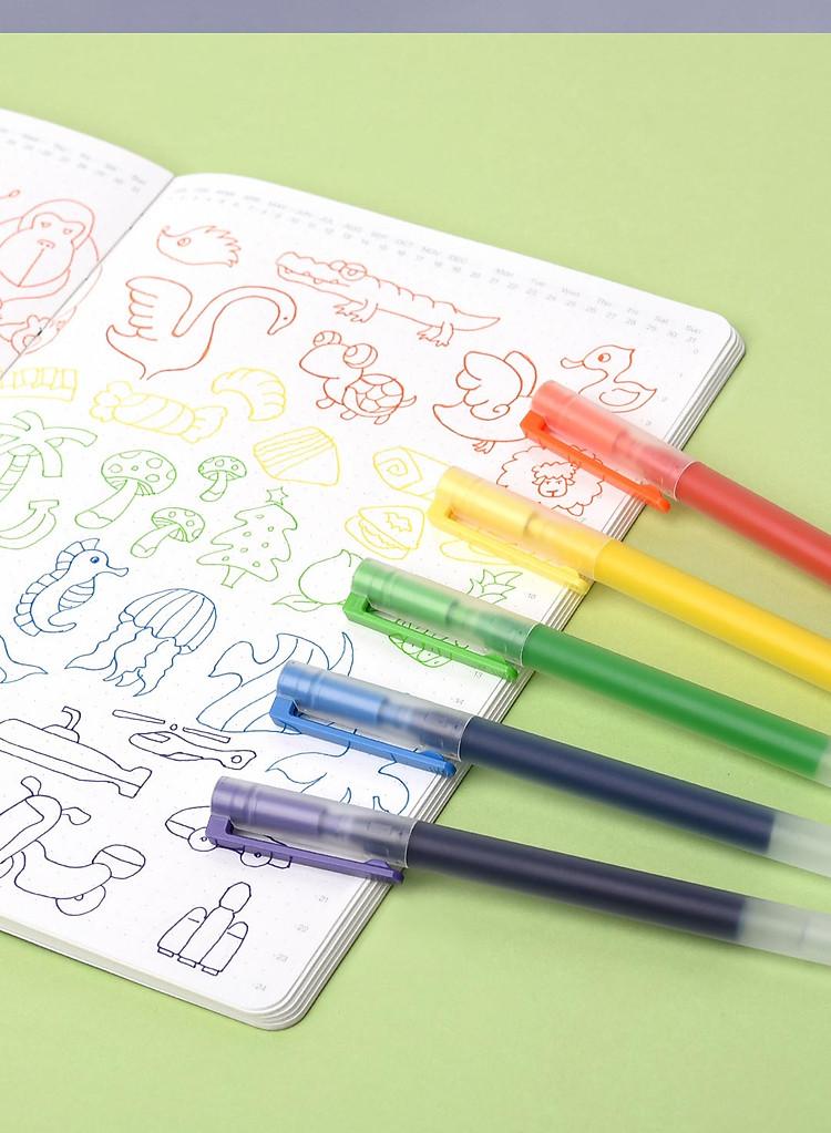 Bút viết Xiaomi 0,5mm gel bút đồ dùng học tập văn phòng phẩm 5 cái bút viết màu 5