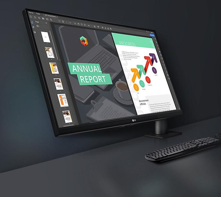 LG QHD Monitor Ergo: Thiết kế hướng tới bạn