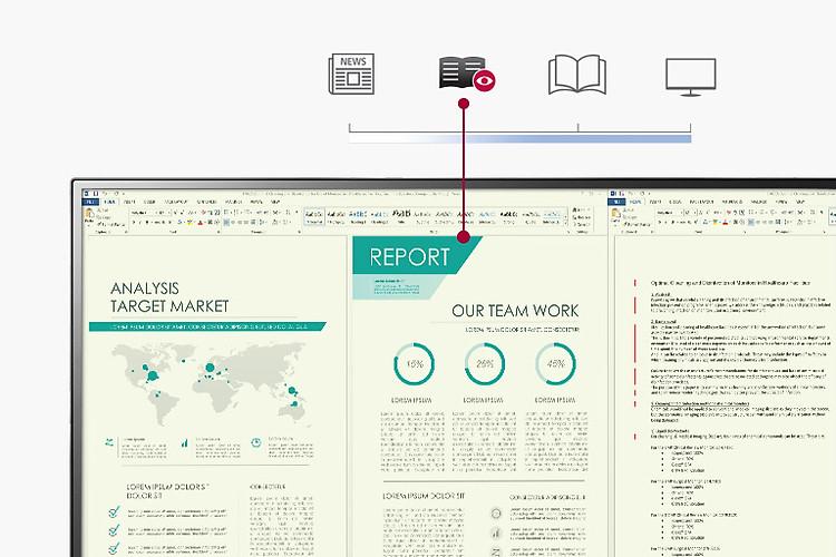 Chế độ đọc sách giảm ánh sáng Xanh nhiều hơn màn hình Thông thường và tạo ra một màn hình có nhiệt độ màu tương tự như trên giấy.
