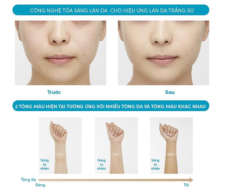 Kem Nền Trang Điểm Chô ng Nă ng Dươ ng Da Dạng Nén Anessa Perfect UV Skincare Base Makeup SPF50+ PA+++ 10g 3
