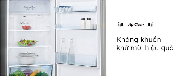 Tủ lạnh Panasonic NR-BV360QSVN với Hệ thống kháng khuẩn, khử mùi tinh thể bạc Ag Clean