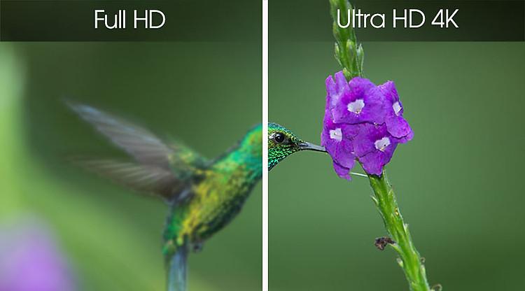 Smart Tivi Samsung 4K 70 inch UA70RU7200 - Độ phân giải Ultra HD 4K