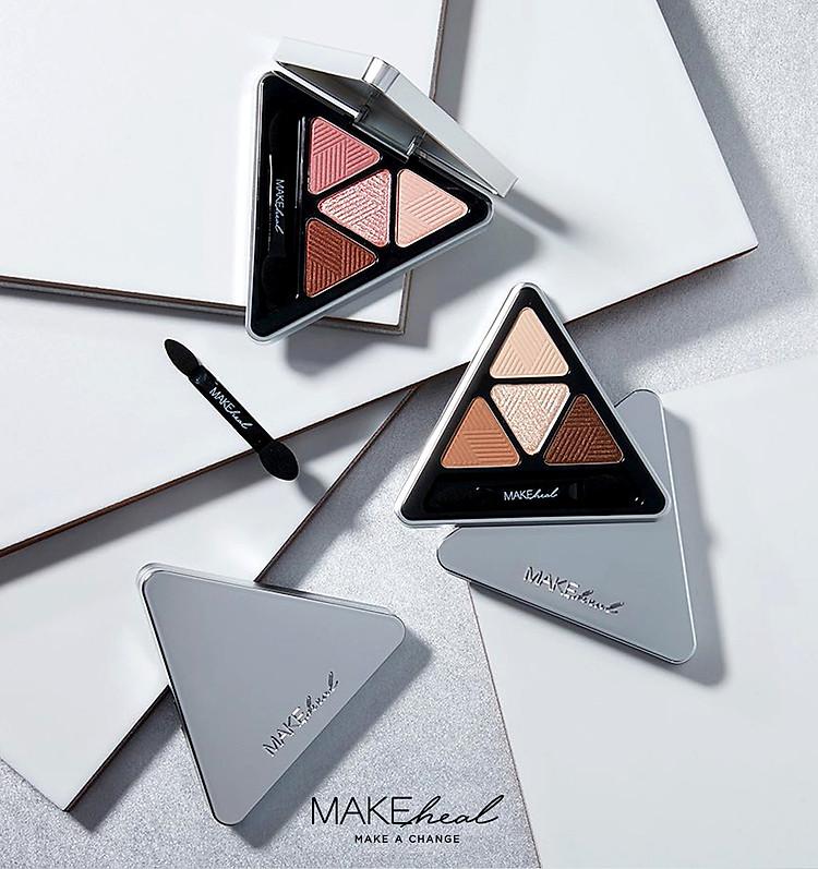 Bảng Phấn Mắt 4 Màu MAKEheal Hidden Triangle Palette 4g 3