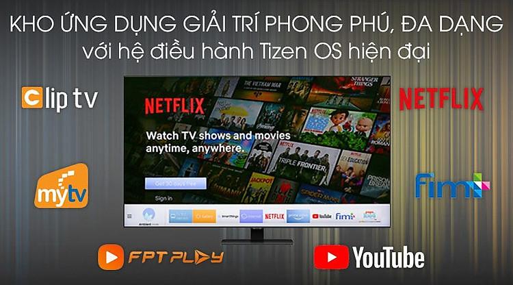 Tizen OS-Smart Tivi QLED Samsung 4K 85 inch QA85Q80T