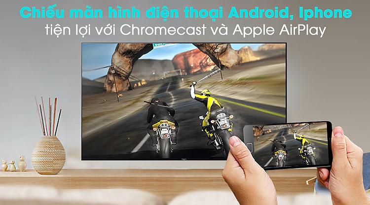 Android Tivi Sony 4K 49 inch KD-49X9500H - Chiếu màn hình điện thoại
