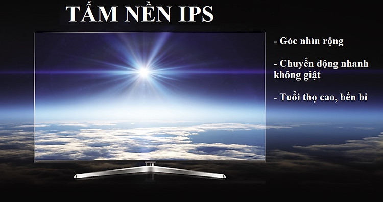 Tivi Casper 65EG8000 có tấm nền IPS