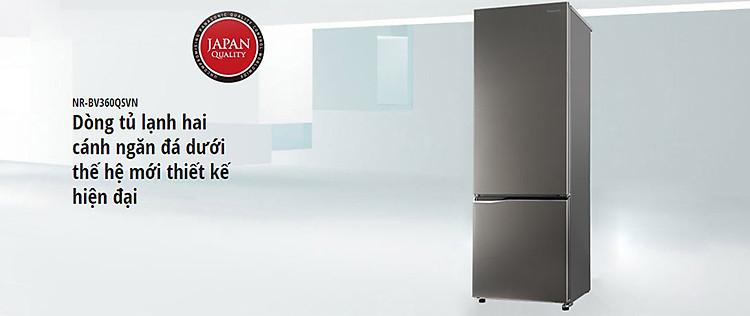 Tủ lạnh Panasonic NR-BV360QSVN, 322 lít, Inverter