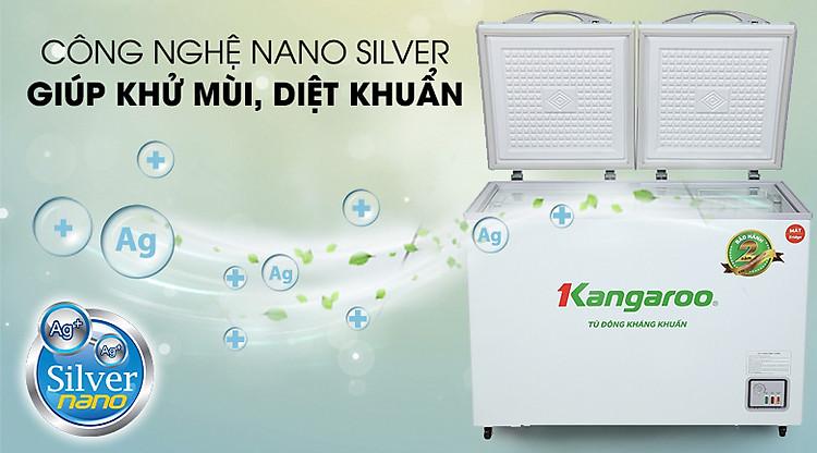 Tủ đông Kangaroo 212 lít KG 328NC2 - Công nghệ Nano Silver