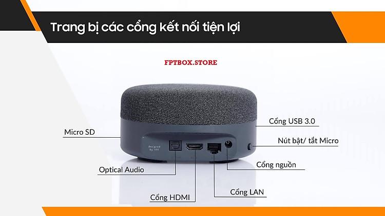 FPT Play Box S 2021 Chính hãng FPT Telecom (Mã T590) Kết hợp Tivi Box và Loa thông minh 7