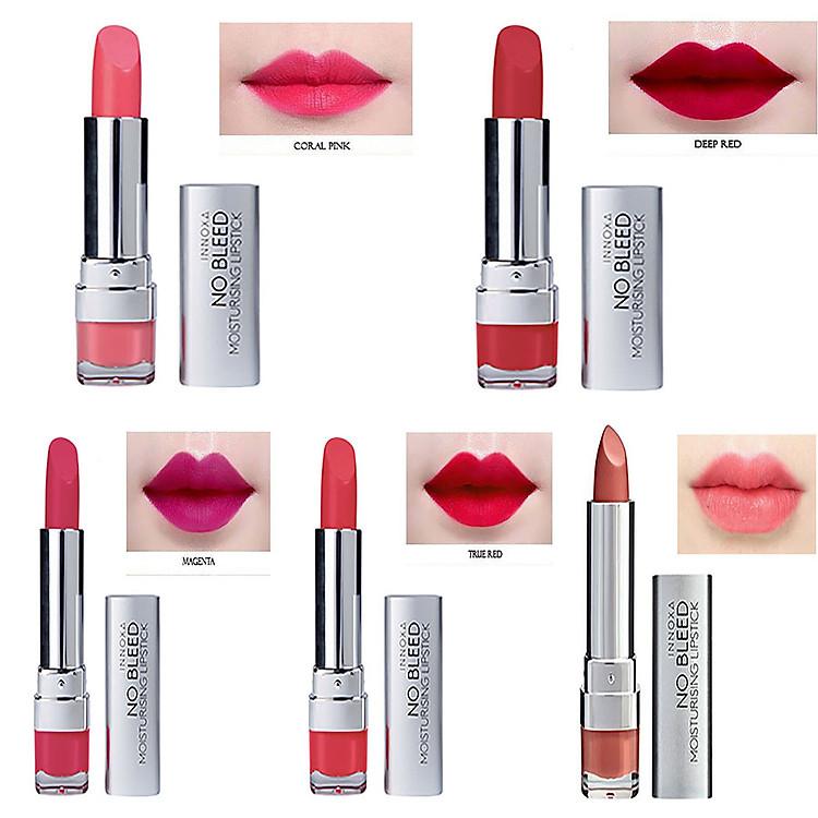 Son Lì Dưỡng Chất Chống Oxi Hóa Giảm Thâm Môi No Bleed Lipstick Innoxa Úc 7