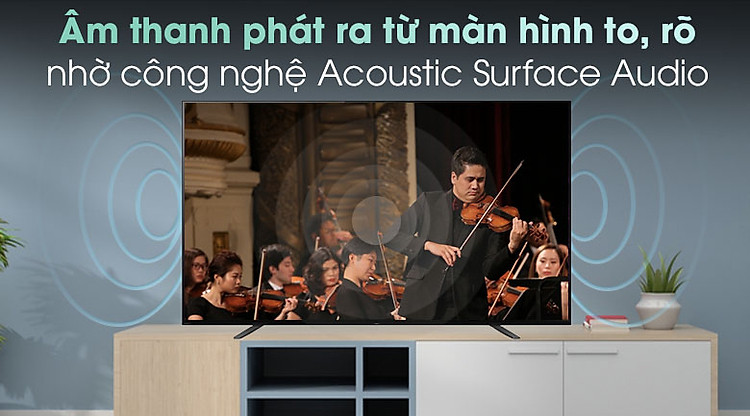 Android Tivi OLED Sony 4K 65 inch KD-65A8H - Công nghệ Acoustic Surface Audio
