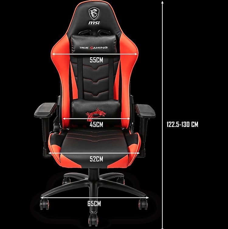 Kích thước Ghế Gaming MSI Chairs MAG CH120