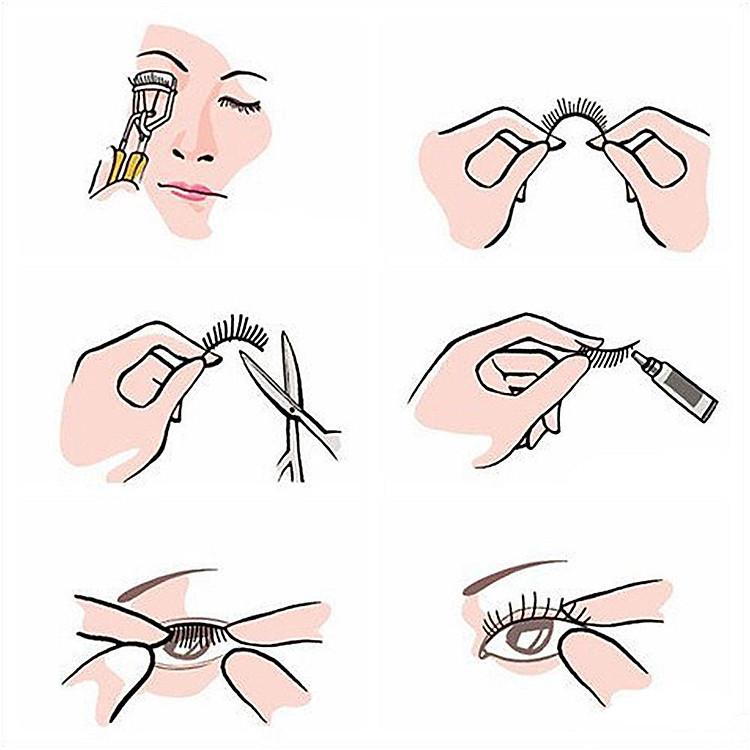 Lông mi giả lông chồn 3 Fashion Eyelashes 3 Faux-Cils 3D 1 bộ 3 cặp 115