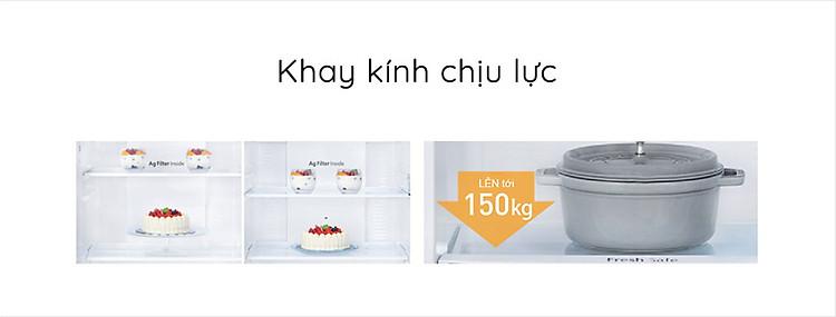 Tủ lạnh Panasonic NR-BV360QSVN sử dụng Kính cường lực chịu tới 150kg