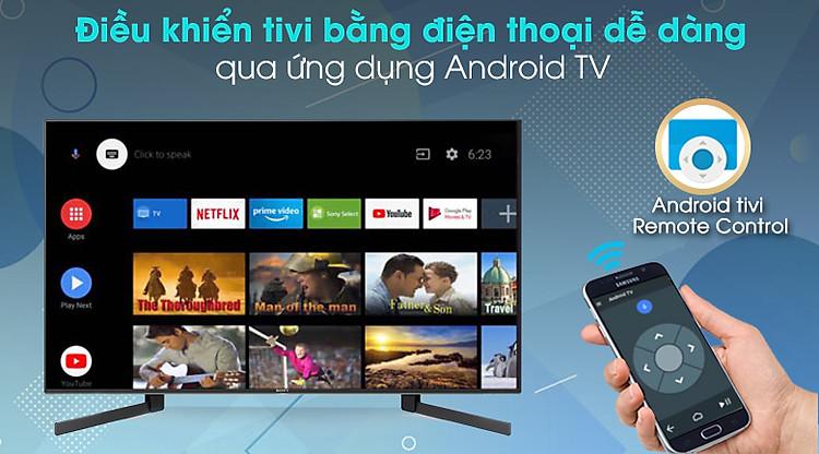 Android Tivi Sony 4K 49 inch KD-49X9500H - Điều khiển qua ứng dụng Android TV  điện thoại