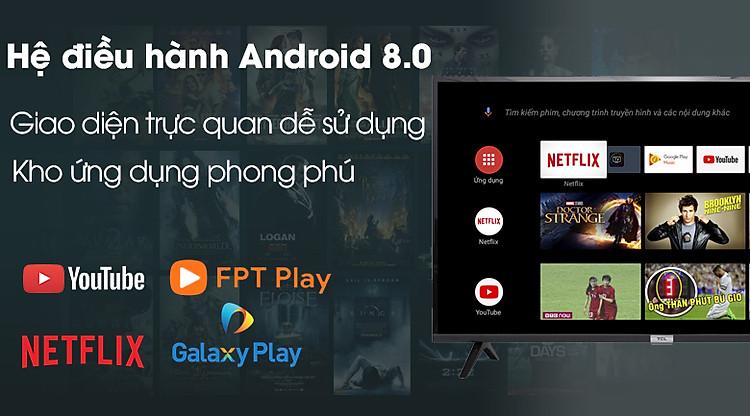 Android Tivi TCL 43 inch L43S5200 - Hệ điều hành