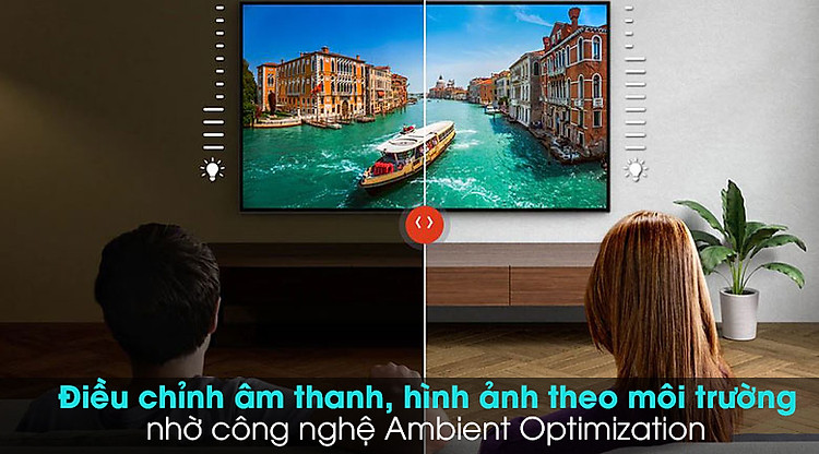 Android Tivi Sony 4K 49 inch KD-49X9500H - Cảm biến ánh sáng với công nghệ Ambient Optimization