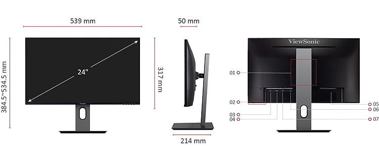 Màn hình Viewsonic VX2480-kết nối