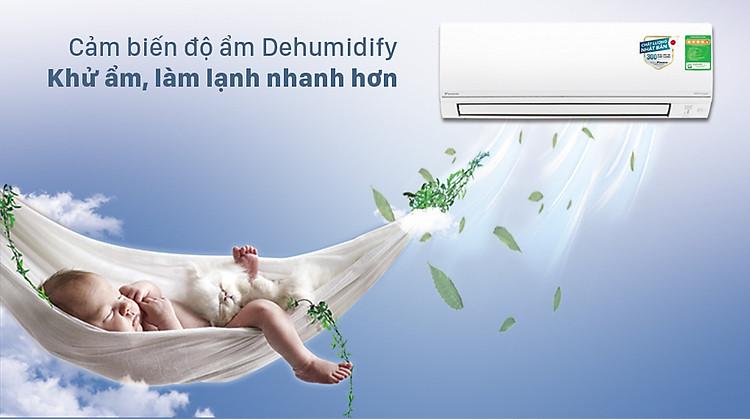 Máy lạnh 2 chiều Daikin Inverter 1.5 HP FTHF35VAVMV - Tính năng khử ẩm Dehumidify đến 25%