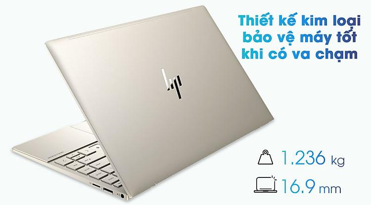 Laptop HP Envy 13 ba1027TU i5 1135G7/8GB/256GB/Office H&S2019/Win10 (2K0B1PA) - Thiết kế gọn nhẹ, cứng cáp