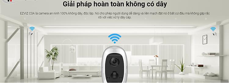 Camera IP Wifi ngoài trời EZVIZ C3A FHD 1080P - Dùng Pin Sạc - đàm thoại 2 chiều - hàng chính hãng 3