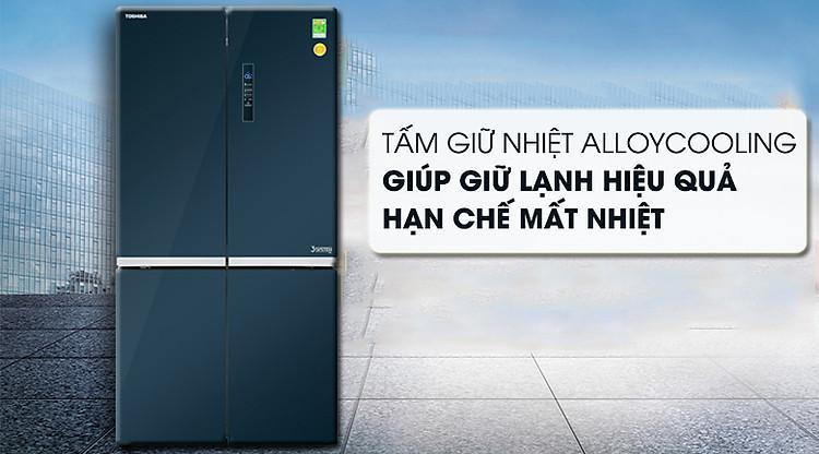 Tấm hợp kim AlloyCooling - Tủ lạnh Toshiba Inverter 622 lít GR-RF646WE-PGV(24)