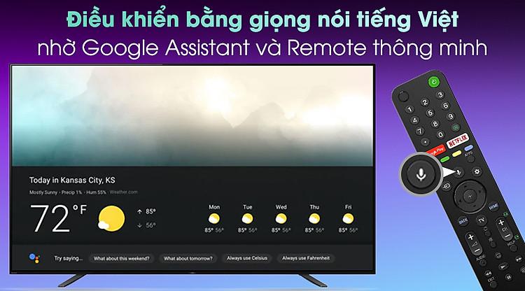 Android Tivi OLED Sony 4K 65 inch KD-65A8H - ĐIều khiển tivi bằng giọng nói