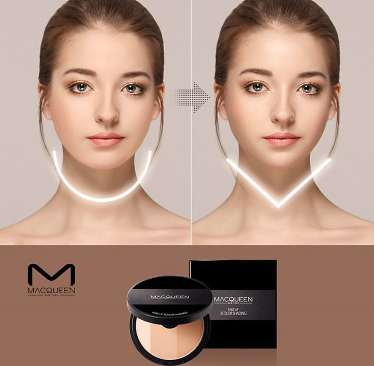 Phấn Tạo Khối Macqueen Fake Up 3 Color Shading 2