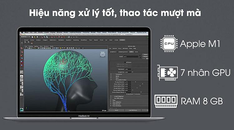 Apple Macbook Air M1 (MGN73SA/A) - CPU