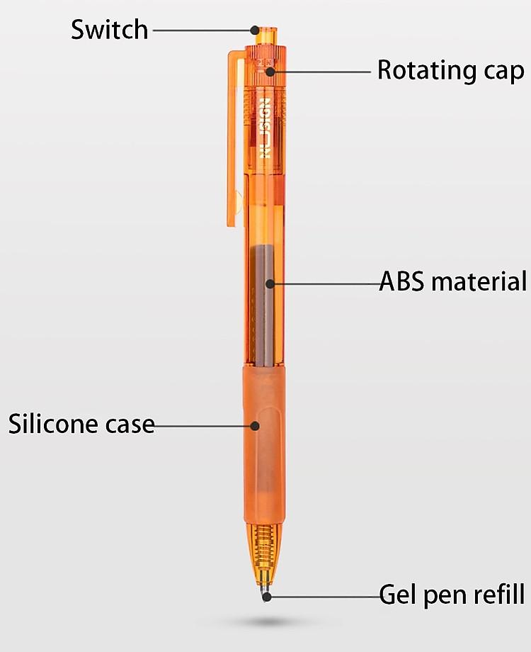 Bút Bi Dạng Gel Viết Chữ Đẹp NUSIGN (Đầu Bi 0.55mm) 4