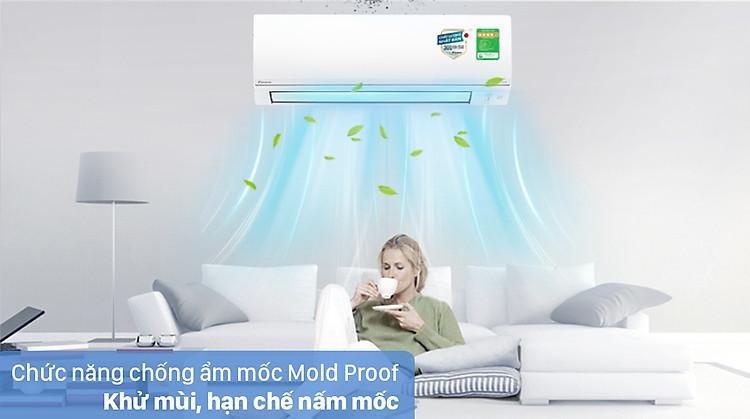 Máy lạnh 2 chiều Daikin Inverter 1 HP FTHF25VAVMV - Chống ẩm mốc