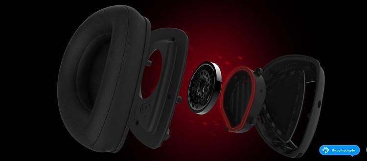 Tai nghe Asus ROG Delta Core có thiết kế buồng kín khí độc quyền