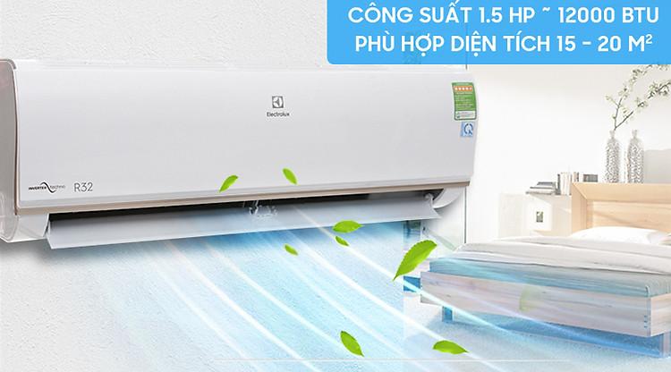 Thiết kế máy lạnh Electrolux Inverter 1.5 HP ESV12CRO-A1