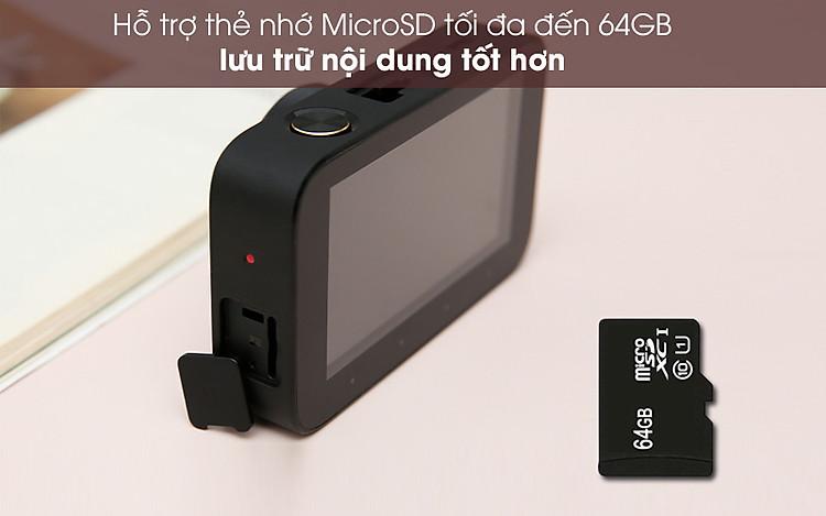Hỗ trợ thẻ nhớ đến 64GB - Camera Hành Trình 1080P Xiaomi Mi Dash Cam 1S Đen
